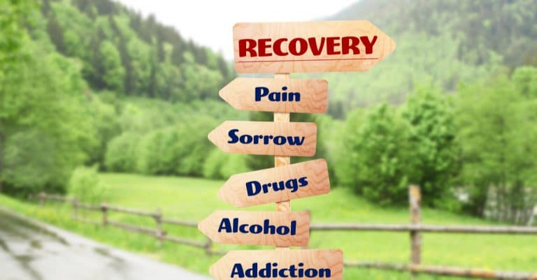 directional sign to recovery